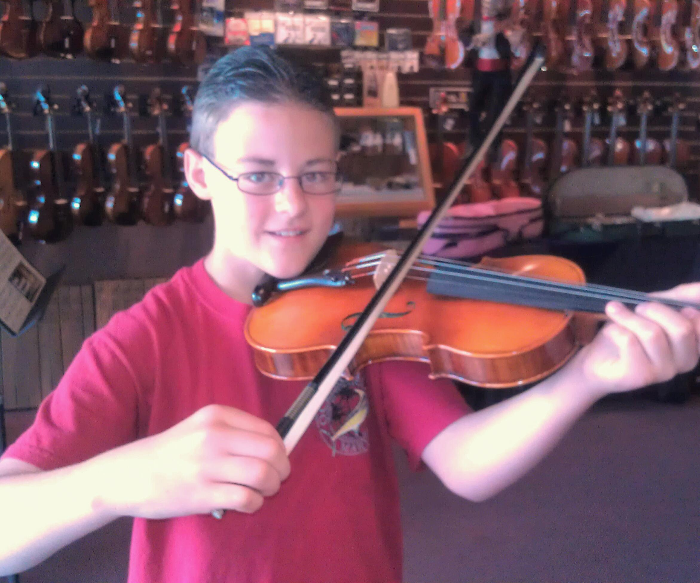 Hershey Violin outfit  One very happy camper  Thank you Derek andDerek Hershey